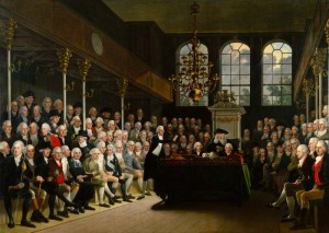 NPG 745; The House of Commons 1793-94 by Karl Anton Hickel